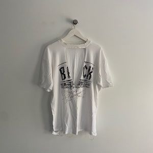 hollywood boutique oversize distressed ACDC tshirt